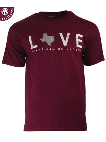Texas A&M Love Star Over Aggieland T-Shirt