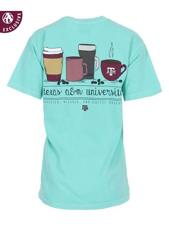 Texas A&M Stress Bless Coffee Obsessed T-Shirt