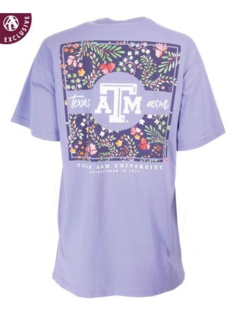 Texas A&M Square Floral Pattern T-Shirt