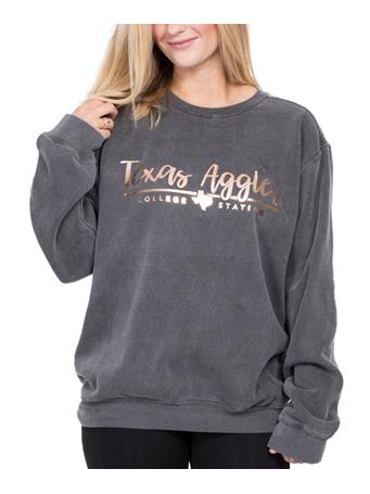 Texas A&M Rose Gold Script Sweatshirt