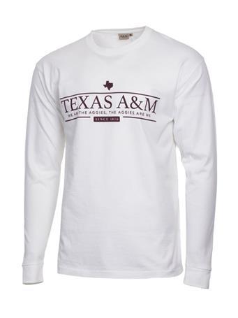 Texas A&M Aggie White Long Sleeve T-Shirt