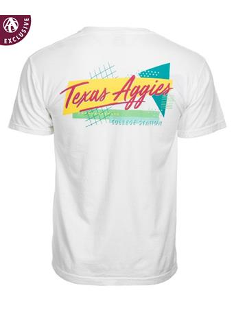 Texas A&M Aggie 80s Throwback Short Sleeve T-Shirt
