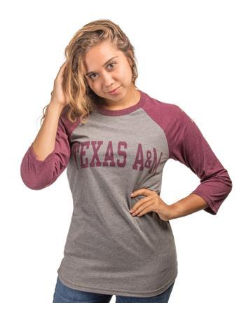 Texas A&M 12th Man Quarter Sleeve Baseball T-Shirt