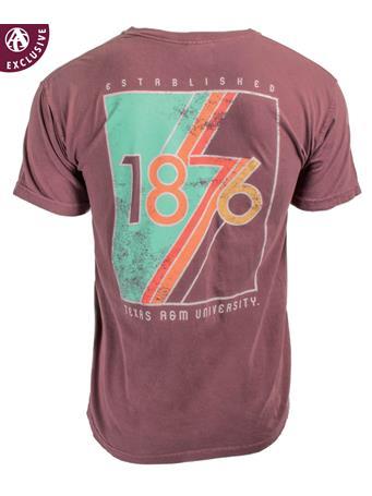 Texas A&M Aggie Retro 1876 T-Shirt