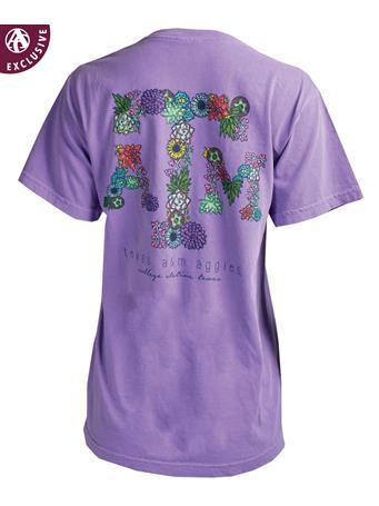 Texas A&M Drawn Succulent Cactus T-Shirt
