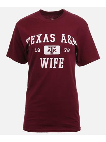 Texas A&M Aggie Wife T Shirt