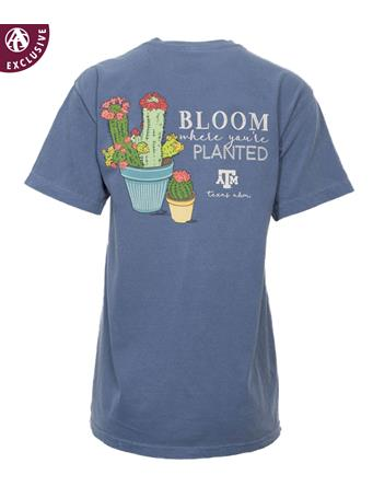 Texas A&M Bloom Planted Cactus T-Shirt