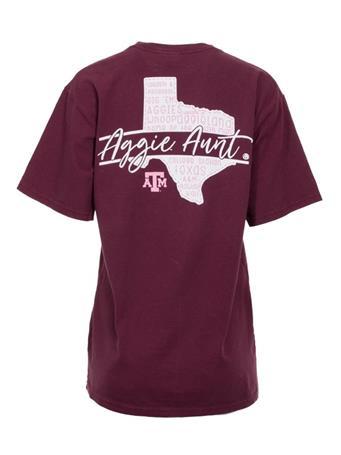 Texas A&M Aggie Aunt Script T-Shirt