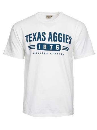 Texas A&M Aggie 1876 Blocked Stripe T-Shirt