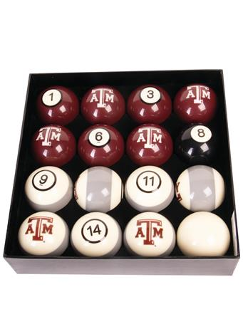 Texas A&M Numbered Billiard Ball Set