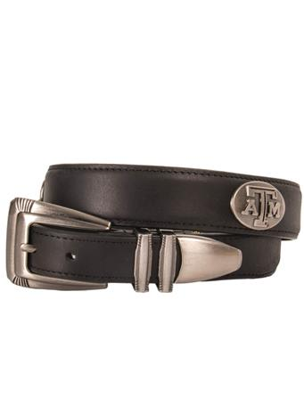 Texas A&M Black Leather Belt