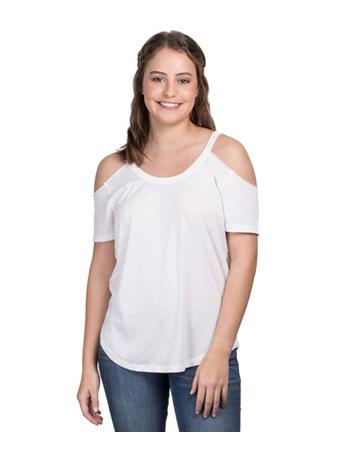 ZSupply Womens Cold Shoulder Tee