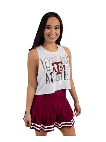 Maroon Cheer Pleated Skirt