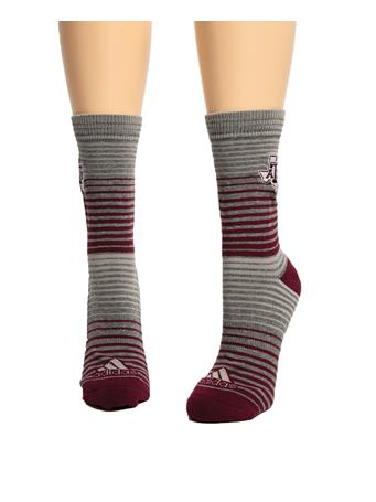 Adidas Texas A&M Aggie Fade Stripe Sock