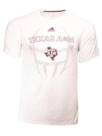 Adidas Texas A&M Helmet Football Tee