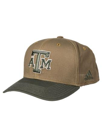 Texas A&M Adidas Olive Adjustable Hat
