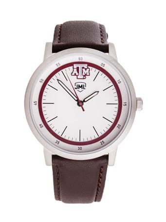 Jack Mason Texas A&M Brown Leather Watch