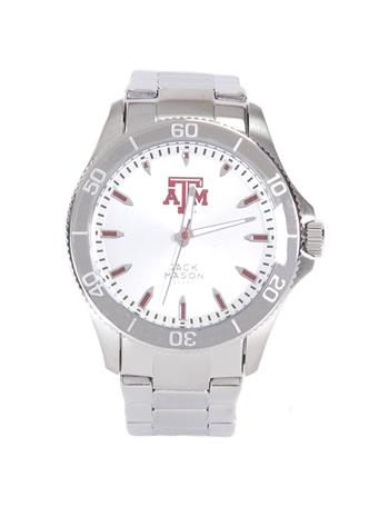 Texas A&M Jack Mason Stainless Steel Watch