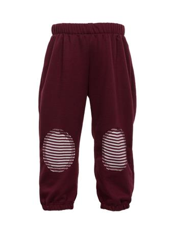 Maroon & White Infant Sweat Pants with Knee Patches