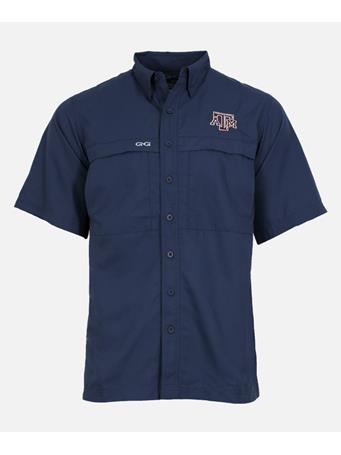 Texas A&M GameGuard Microfiber Short Sleeve Button Down Shirt