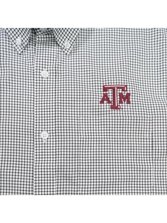 Texas A&M Cutter & Buck Epic Tattersall Button Down Shirt
