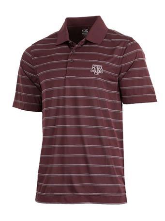 Cutter & Buck Texas A&M Venture Stripe Polo