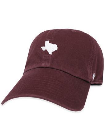 Maroon '47 Brand State of Texas Base Runner Cap