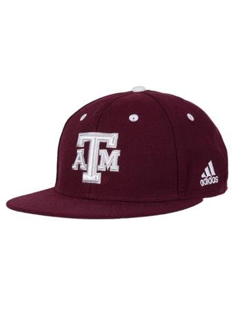 Texas A&M Adidas Maroon On Field Fitted Cap