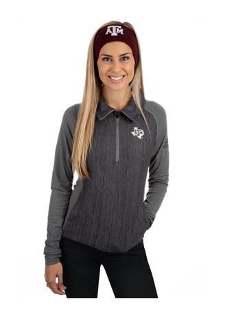 Texas A&M Adidas Vertical Heather Half Zip