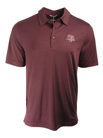 Texas A&M Cutter & Buck DryTec Prevail Stripe Polo