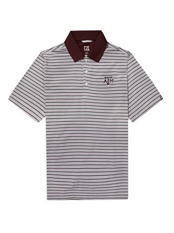 Texas A&M Cutter & Buck Surge Stripe Polo