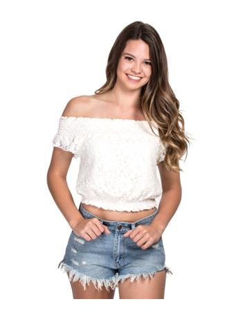 Bouchon Ivory Smocked Top