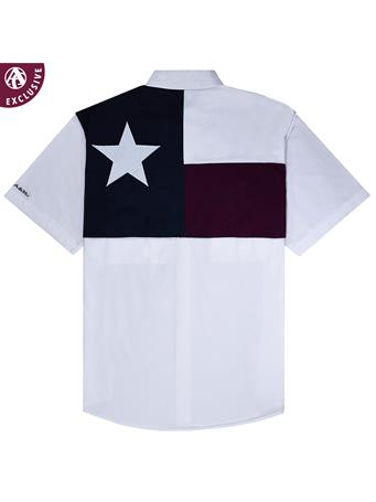 Texas A&M Men's Flag Fishing Button Down Shirt