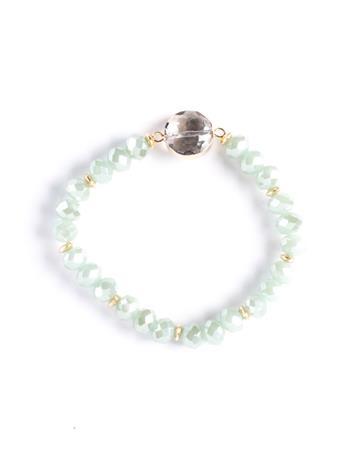 Mint Beaded Stretch Bracelet