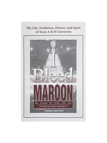 I Bleed Maroon Book By Frank Cox
