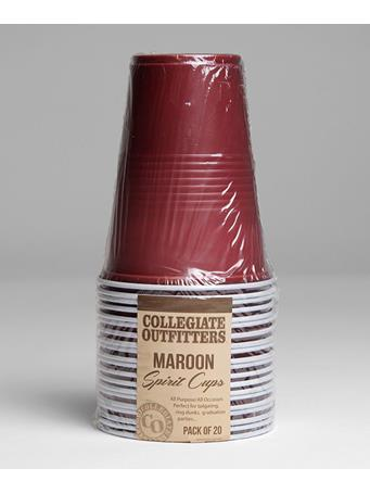 Maroon Spirit Cups 20 pack