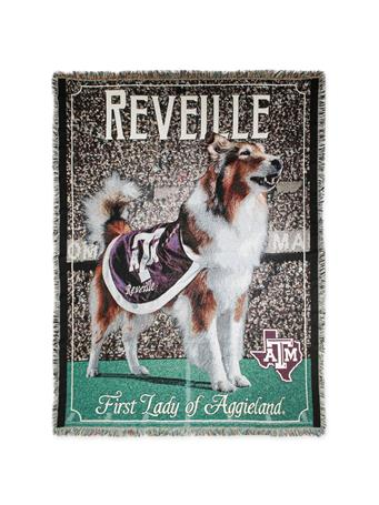 Texas A&M Reveille First Lady of Aggieland Woven Throw