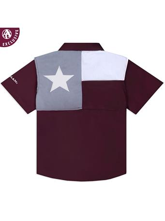 Texas A&M Aggie Toddler Flag Fishing Shirt