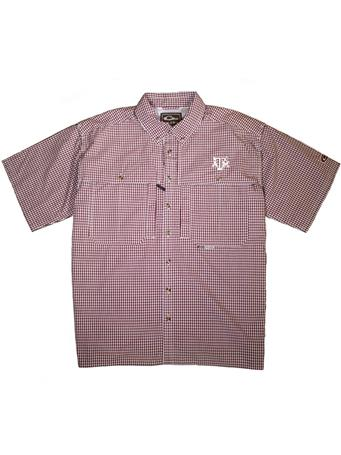 Texas A&M Drake Wingshooter Short Sleeve Button Down Shirt
