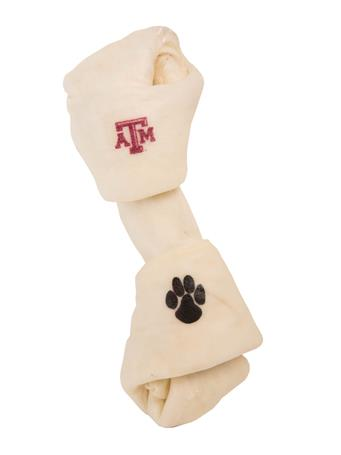 Texas A&M Collegiate Rawhide Dog Bone