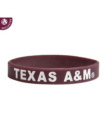 Texas A&M Youth Spirit Band Silicon Bracelet