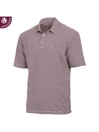 Texas A&M Aggies Tiny Stripe Men's Polo