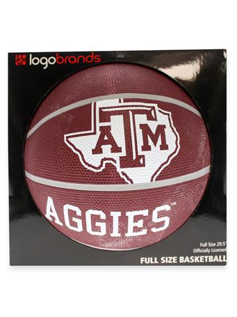 Texas A&M Full Size Rubber Basketball