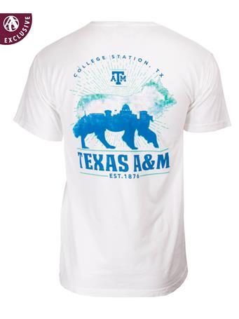 Texas A&M Aggies Skyline Reveille T-Shirt