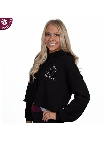 Texas Aggie Cropped Fleece Hoodie