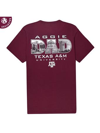 Texas A&M Dad Landmark Photos T-Shirt