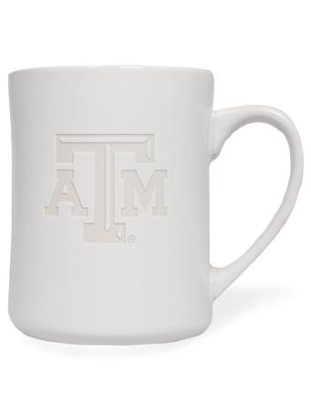 Texas A&M Etched White Mug