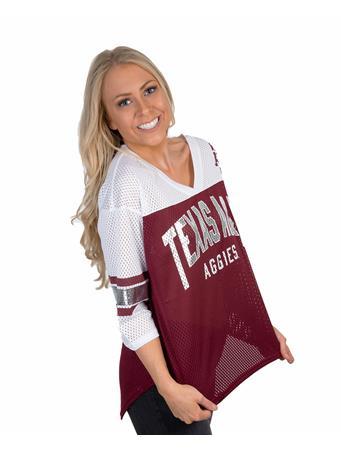 Texas A&M Aggies Women's Metallic Jersey
