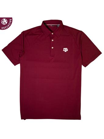 Texas A&M Short Sleeve EcoTec Solid Polo