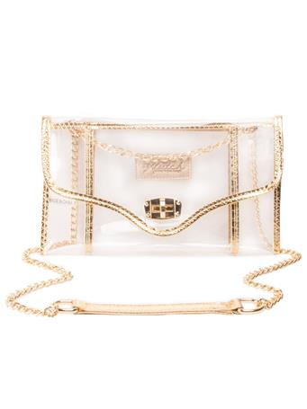Kleav Gold Envelope Crossbody